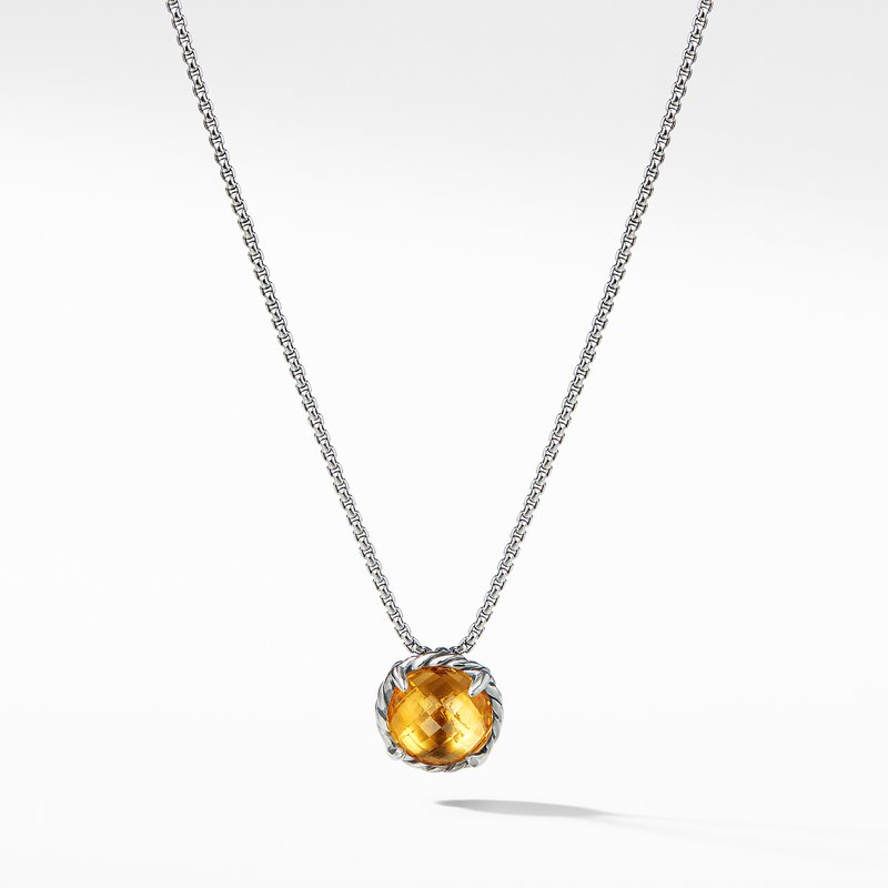 David Yurman Chatelaine® Pendant Necklace with Citrine