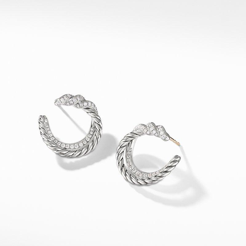 David Yurman Continuance® Hoop Earrings with Diamonds