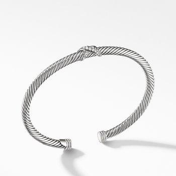 X Station Bracelet with Diamonds