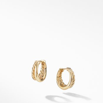 Pure Form® Hoop Earrings in 18K Gold, 25mm