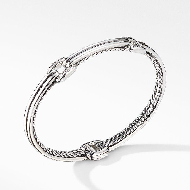 David Yurman Thoroughbred® Double Link Bracelet with Diamonds