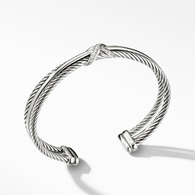 David Yurman Crossover X Bracelet with Diamonds