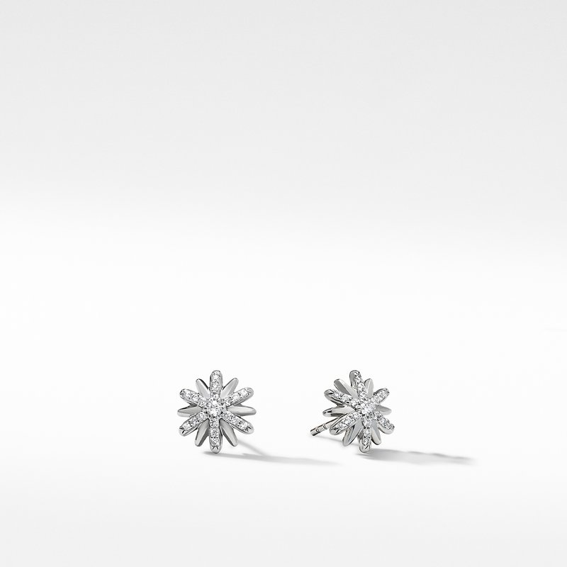 David Yurman Petite Starburst Stud Earrings with Pavé Diamonds