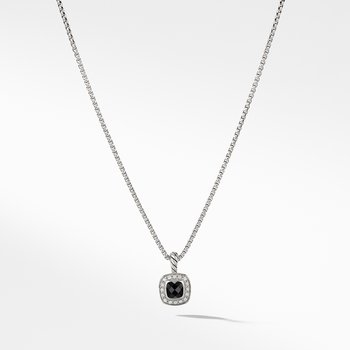 Albion® Kids Necklace with Black Onyx and Diamonds, 4mm