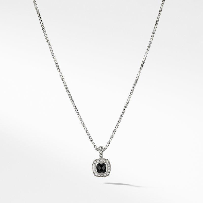 David Yurman Albion® Kids Necklace with Black Onyx and Diamonds, 4mm