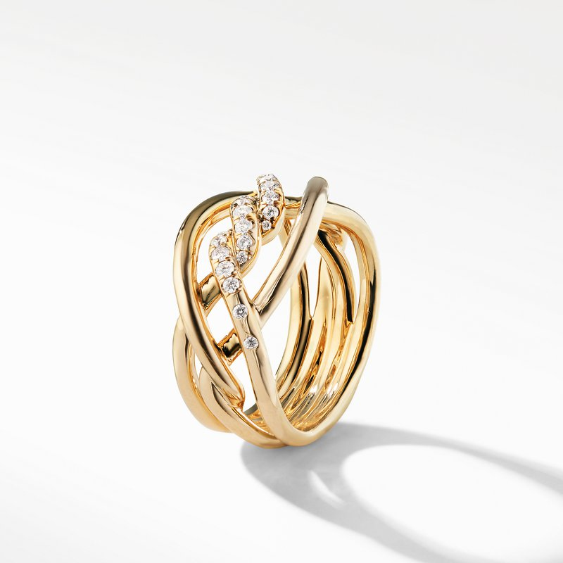 David Yurman Continuance® Ring with Diamonds in 18K Gold