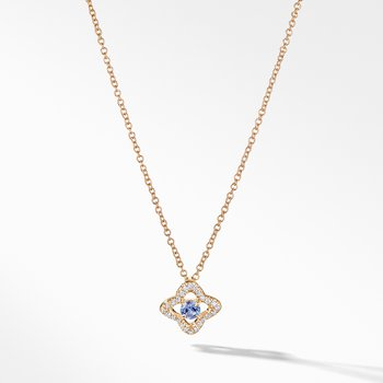Venetian Quatrefoil® Necklace with Tanzanite and Diamonds in 18K Gold