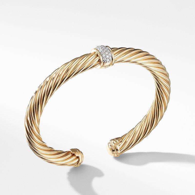 David Yurman Cable Classics Bracelet with Diamonds in 18K Gold,
