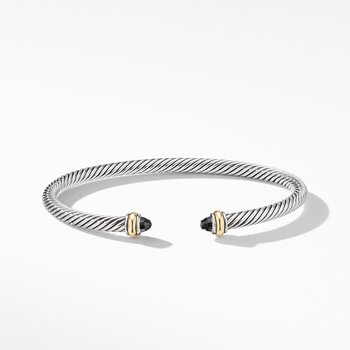 Cable Classic Bracelet with Black Onyx and 18K Yellow Gold