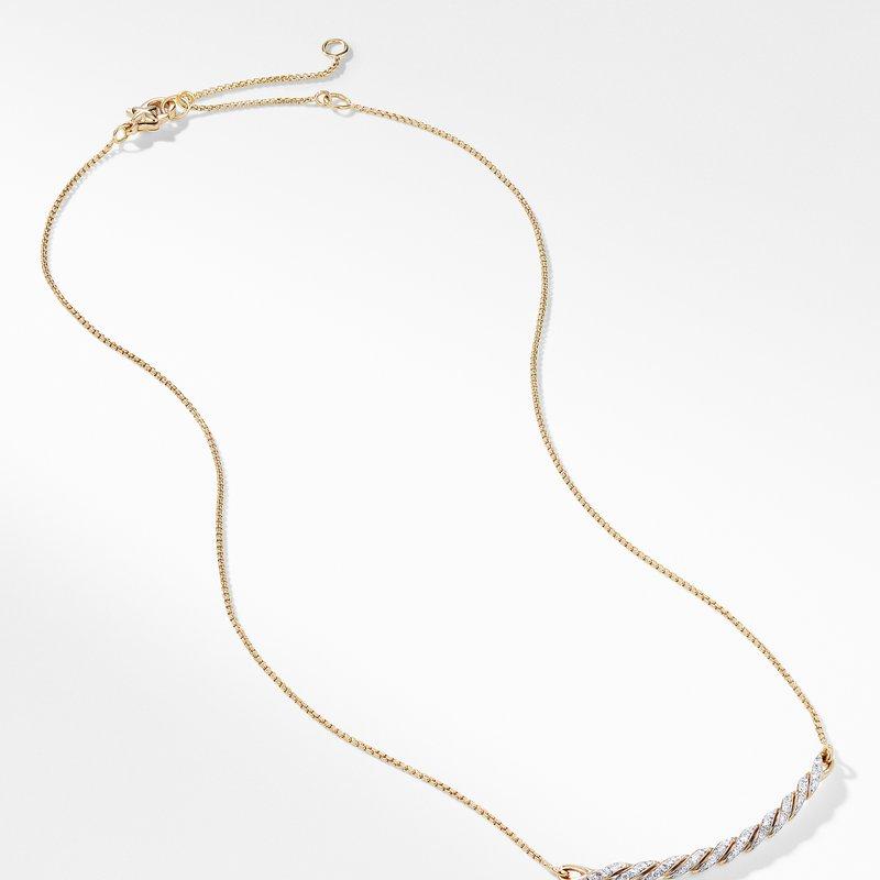 David Yurman Paveflex Station Necklace with Diamonds in 18K Gold