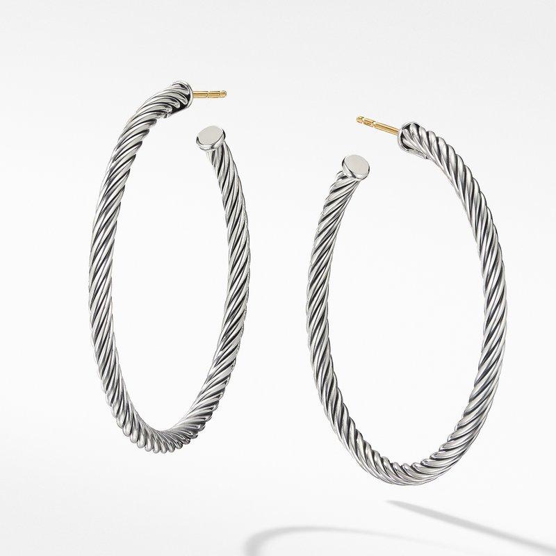 David Yurman Medium Cable Hoop Earrings