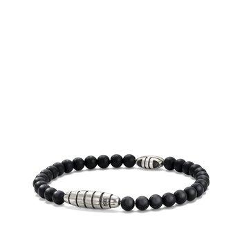Southwest Bead Bracelet in Black Onyx
