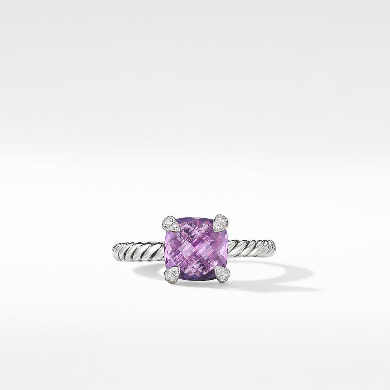 David Yurman Chatelaine® Ring with Amethyst and Diamonds