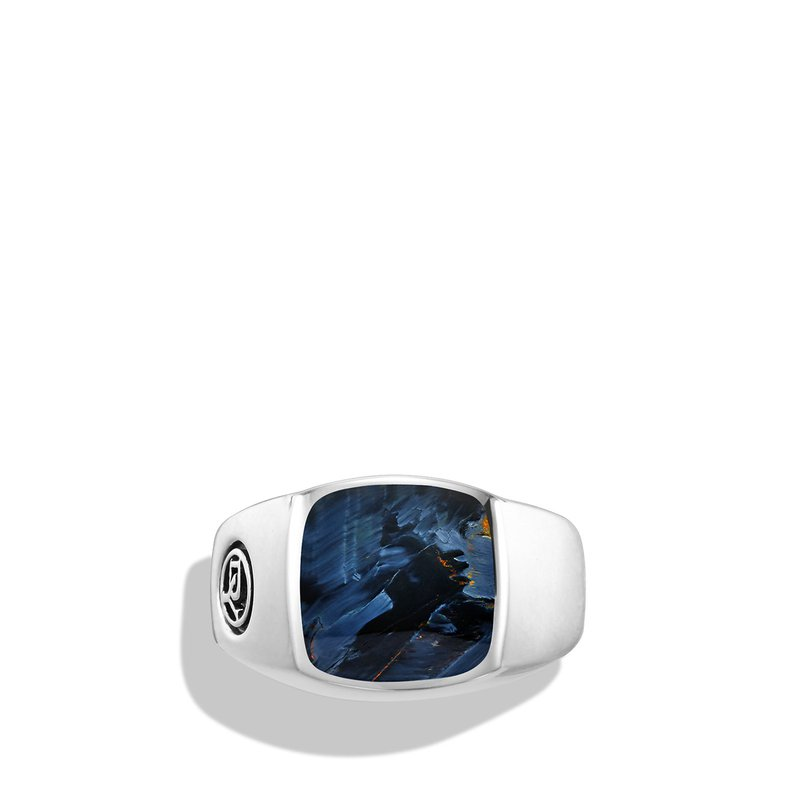 David Yurman Exotic Stone Ring with Pietersite in Silver, 12mm