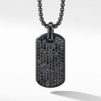 Streamline® Tag in Black Titanium with Black Diamonds
