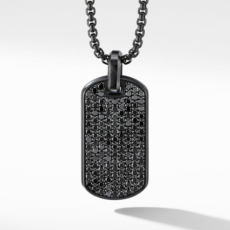 David Yurman Streamline® Tag in Black Titanium with Black Diamonds