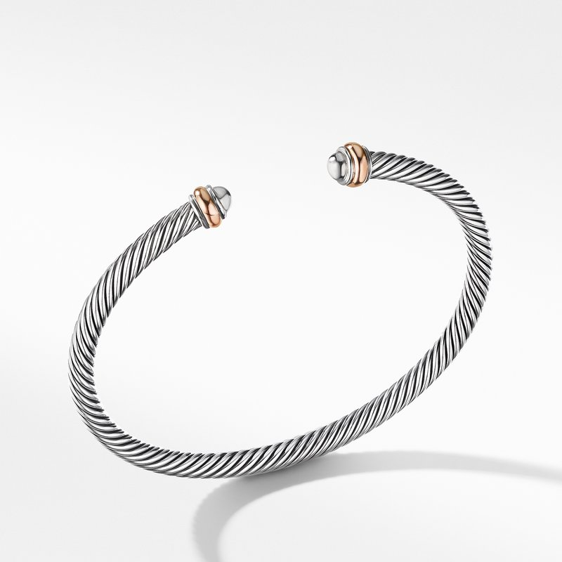 David Yurman Cable Classics Collection® Bracelet with 18K Rose Gold
