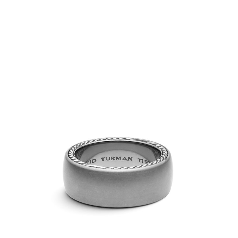 David Yurman Streamline Wide Band Ring with Gray Titanium