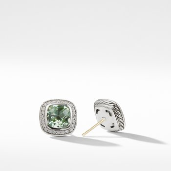 Albion® Earrings with Prasiolite and Diamonds