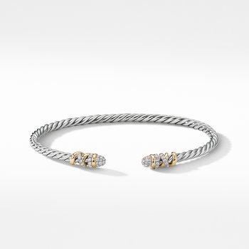 Petite Helena Bracelet with Diamonds and 18K Yellow Gold