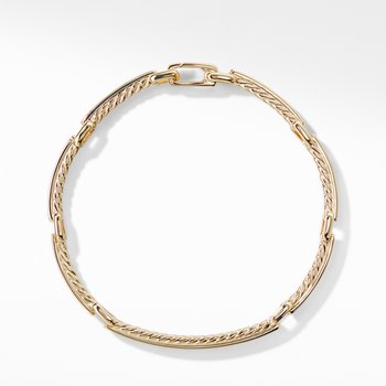 Petite Pavé Link Bracelet with Diamonds in 18K Gold