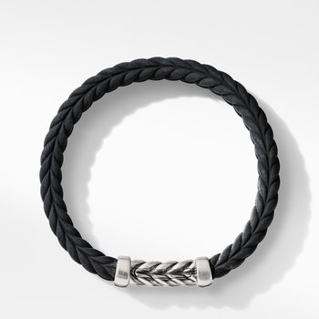 Chevron Black Rubber Link Bracelet