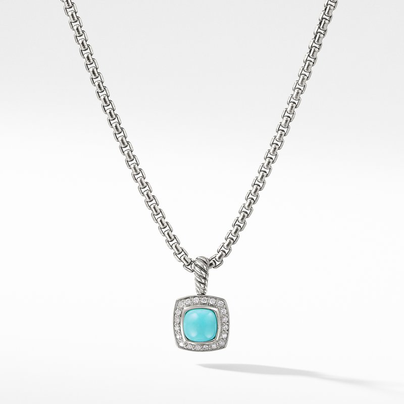 David Yurman Petite Albion® Pendant Necklace with Turquoise and Diamonds