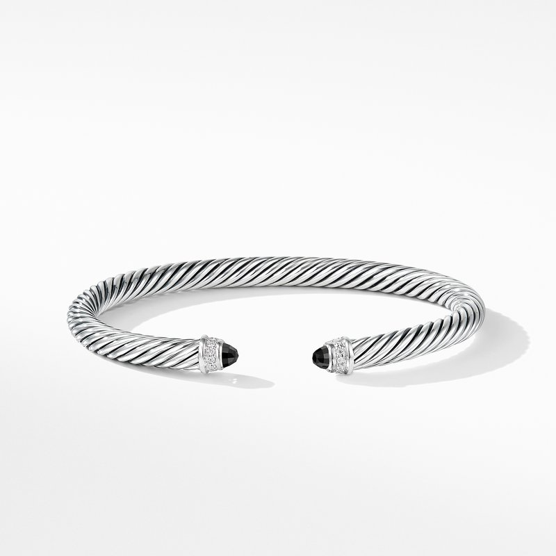 David Yurman Cable Classics Collection® Bracelet with Black Onyx and Diamonds