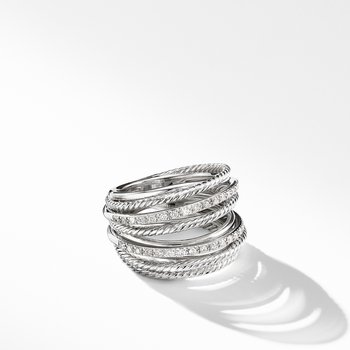 The Crossover Collection® Wide Ring with Diamonds