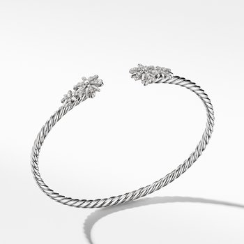 Starburst Open Cable Bracelet with Pavé Diamonds