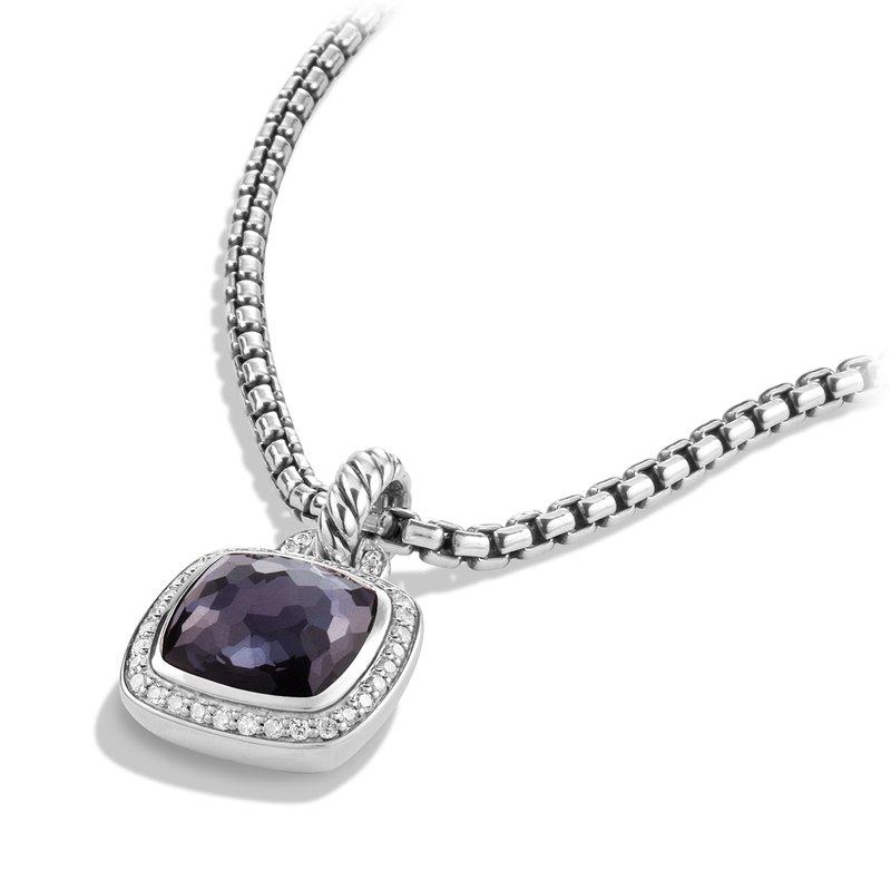 David Yurman Albion® Pendant with Black Orchid and Diamonds