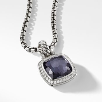 Albion® Pendant with Black Orchid and Diamonds
