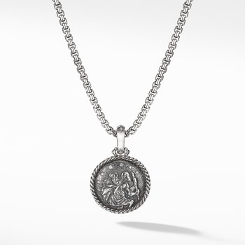St. Christopher Amulet with Diamonds