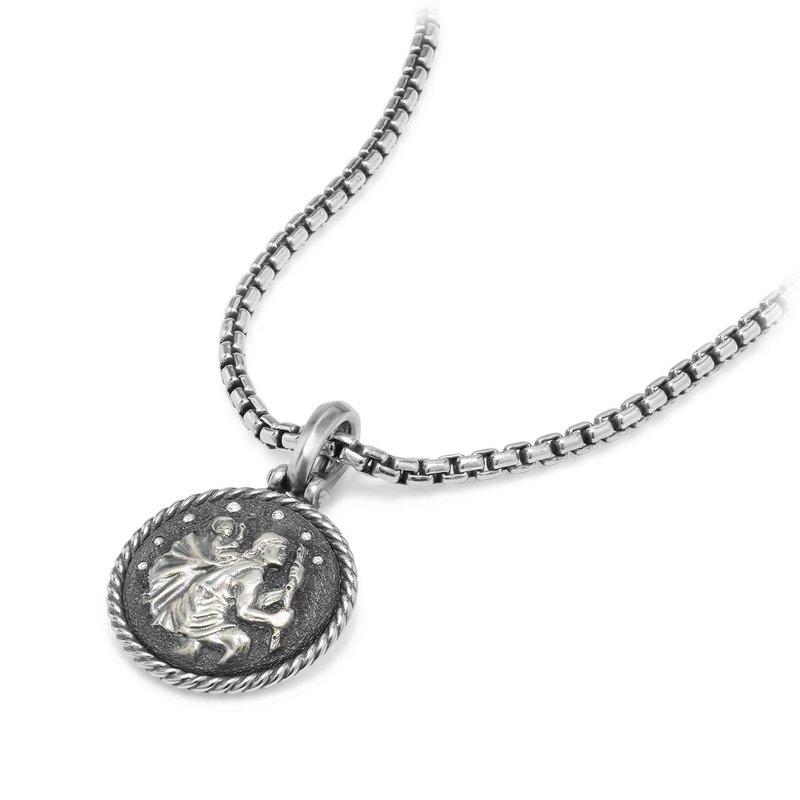 David Yurman St. Christopher Amulet with Diamonds
