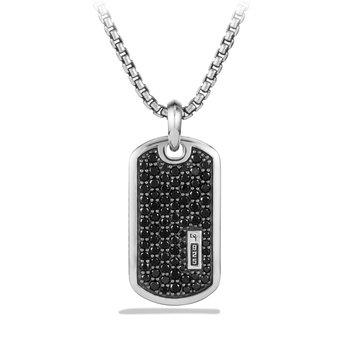 Pave Tag with Black Diamonds