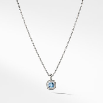 Albion® Kids Necklace with Blue Topaz and Diamonds, 4mm