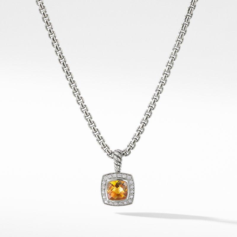 David Yurman Pendant Necklace with Citrine and Diamonds