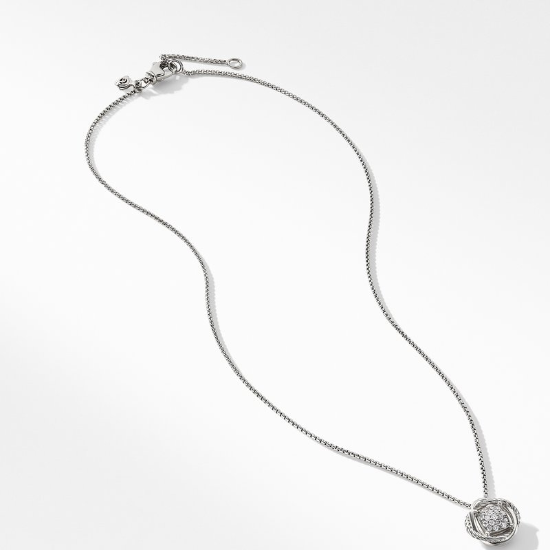 David Yurman Infinity Pendant Necklace with Diamonds