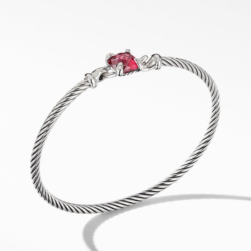 David Yurman Chatelaine® Bracelet with Rhodolite Garnet and Diamonds