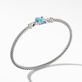 Chatelaine® Bracelet with Blue Topaz and Diamonds