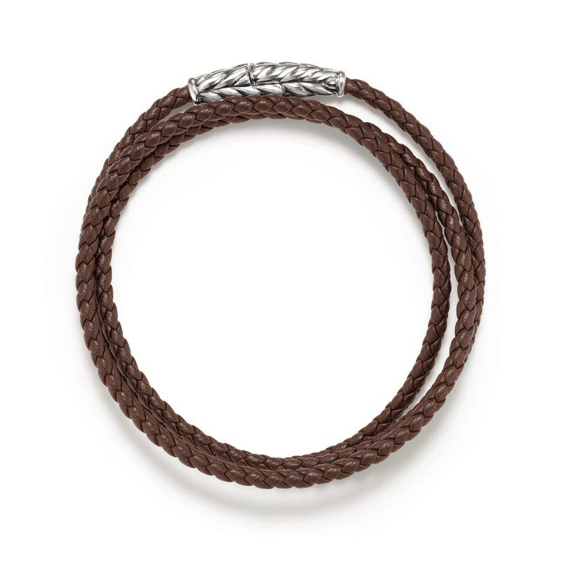 David Yurman Chevron Triple-Wrap Bracelet in Brown