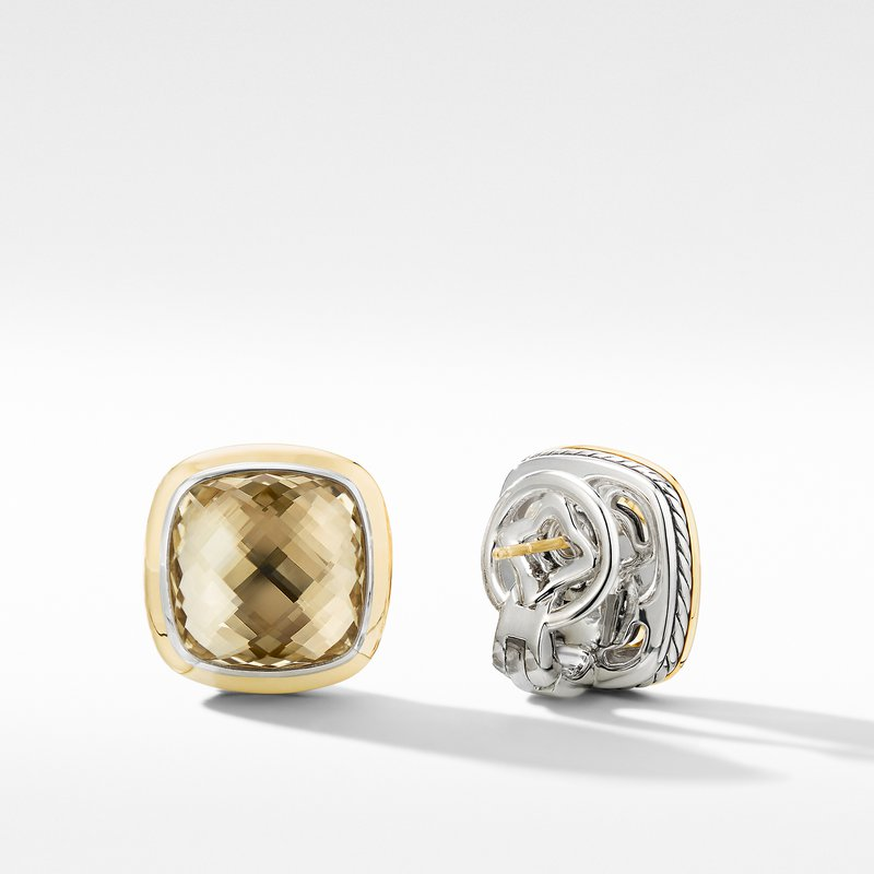 David Yurman Albion® Stud Earrings with Champagne Citrine and 18K Yellow Gold