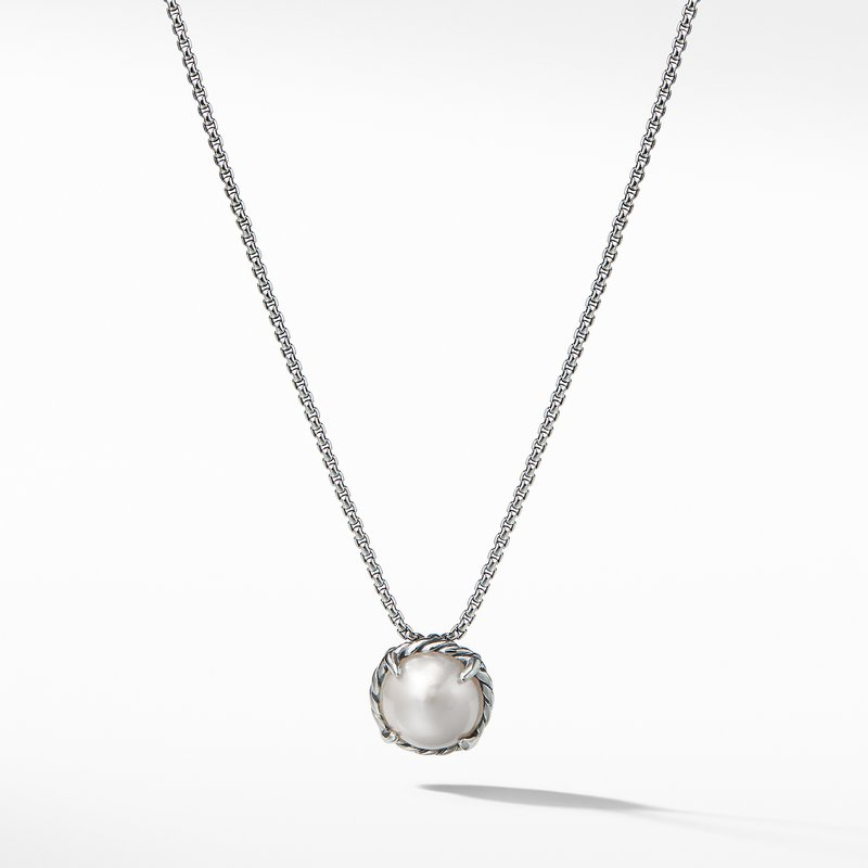 David Yurman Chatelaine® Pendant Necklace with Pearl