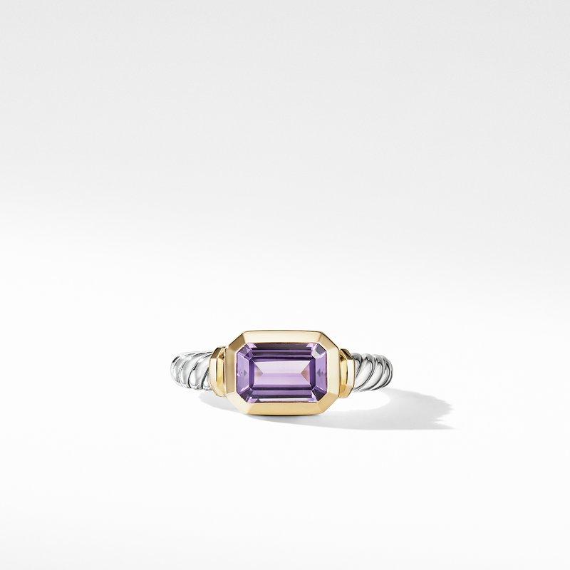 David Yurman Novella Ring with Amethyst and 18K Yellow Gold