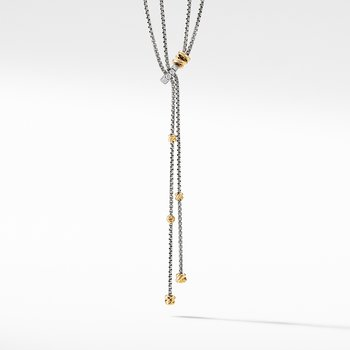 Petite Helena Y Necklace with 18K Yellow Gold and Diamonds