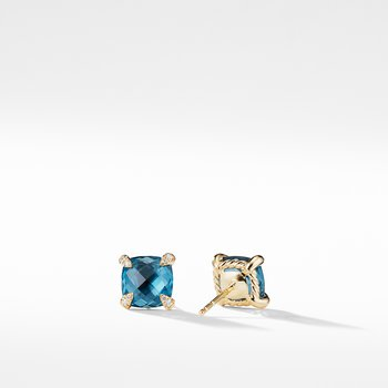 Chatelaine® Earrings with Hampton Blue Topaz in 18K Gold