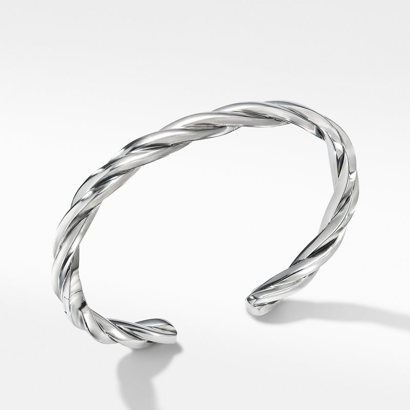 David Yurman Narrow Twisted Cable Cuff Bracelet