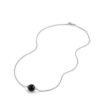 Solari Pendant Necklace with Diamonds and Black Onyx