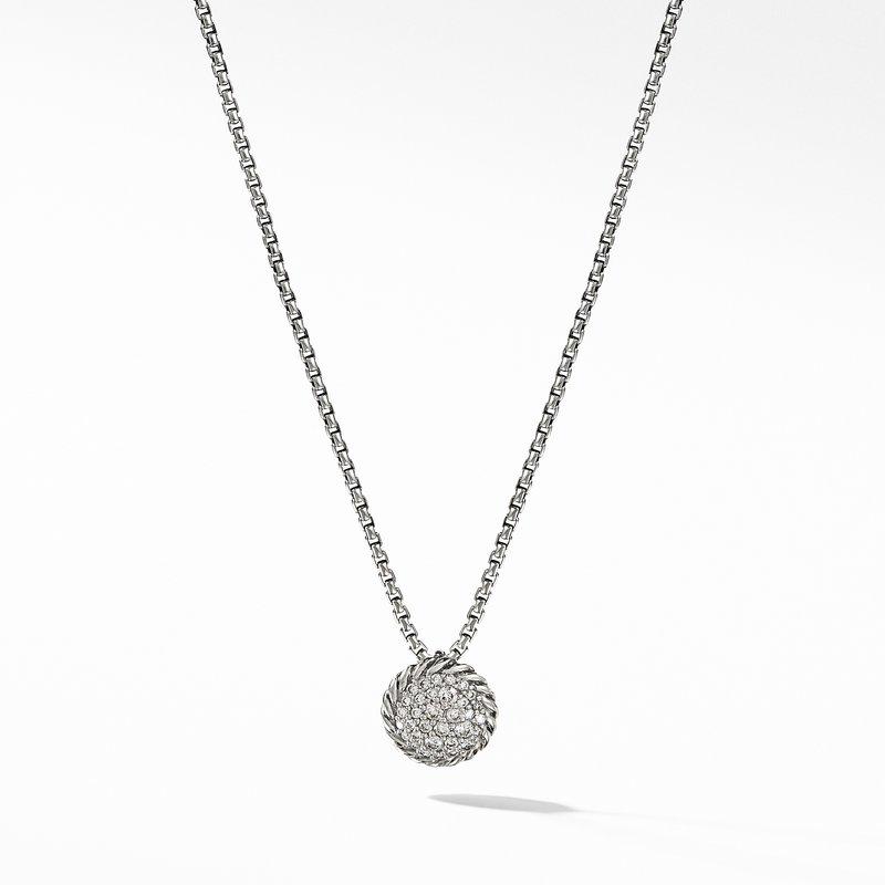 David Yurman Petite Pavé Pendant Necklace with Diamonds