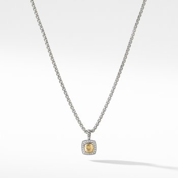 Petite Albion Pendant Necklace with 18K Gold Dome Diamonds